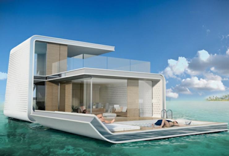 El proyecto the 39 floating seahorse presenta las casas for Casas futuristas