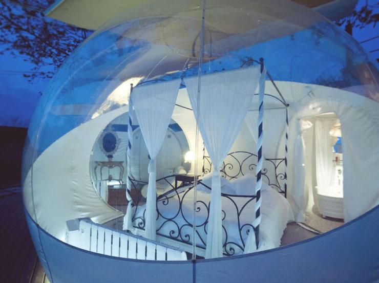 Las habitaciones burbujas del hotel mil estrellas for Cuarto para las 8