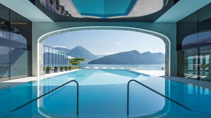 Alojamiento de lujo en un hotel suizo ubicado en el lago - Piscinas de interior ...