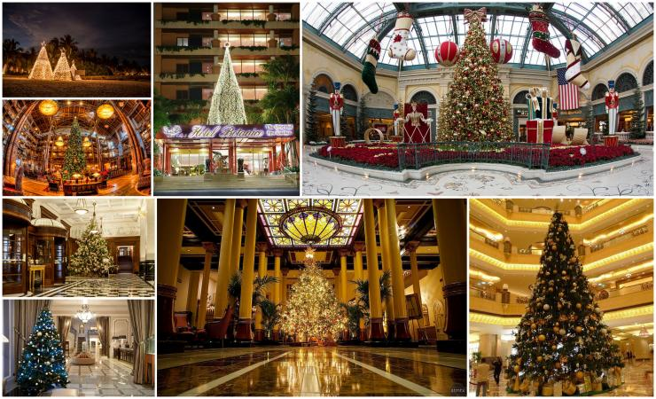 arboles navidad espiritu navideno hoteles mundo