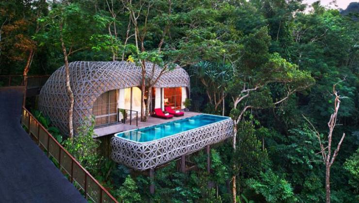 uno de cuatro tipos villas resort puket