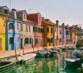 colorido burano cerca venecia