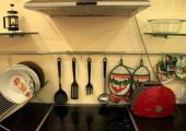 amplia cocina comun albergue