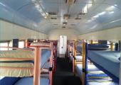 coupe vagon convertido dormitorio
