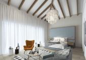 habitacion espaciosa soleada elementos rusticos