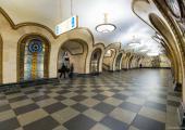 estacion metro moscu elegantes vidrieras