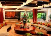recepcion lobby resort exotico