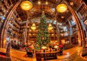 arbol navidad vestíbulo hotel orlando