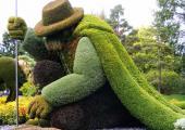 enorme figura plantas jardin botanico