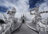 puente templo blanco tailandia