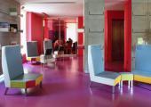 interior hotel ambiente artistico