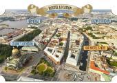 mapa comodo hostal san petersburgo