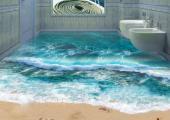 inodoros suspendidos encima agua mar