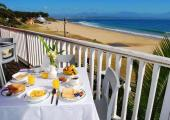 terraza albergue comida vistas