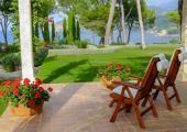 terraza vistas vacaciones relajantes